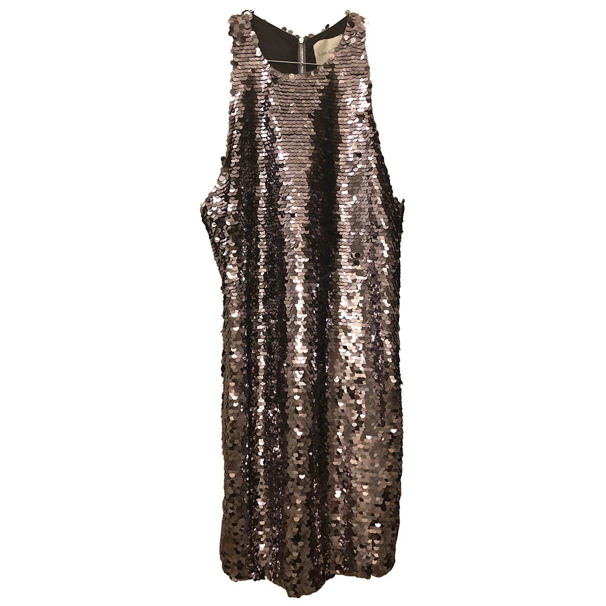 Non Signe / Unsigned \N Kleid in  Silber Synthetik