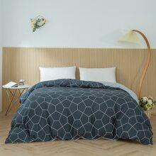 Bettbezug Set mit geometrischem Muster ohne Fuellstoff