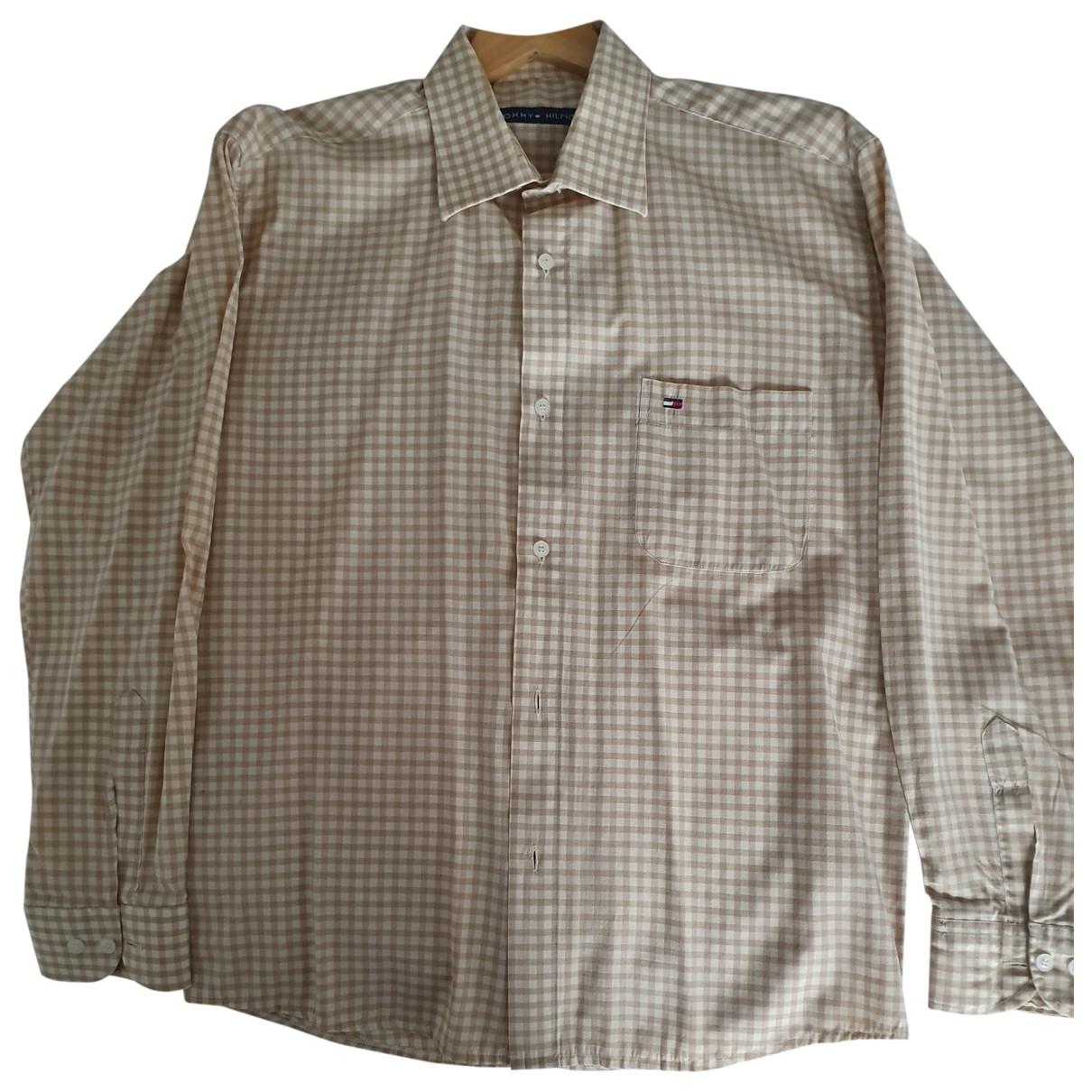 Tommy Hilfiger \N Beige Cotton Shirts for Men L International
