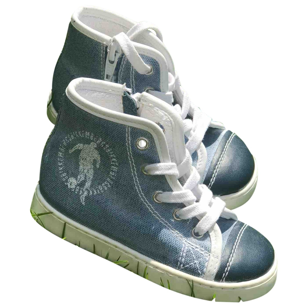 Dirk Bikkembergs \N Blue Cloth Trainers for Kids 21 EU