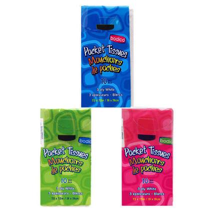Mouchoirs de poche faciaux 10 mouchoirs / pack 3Ply, lot de 6