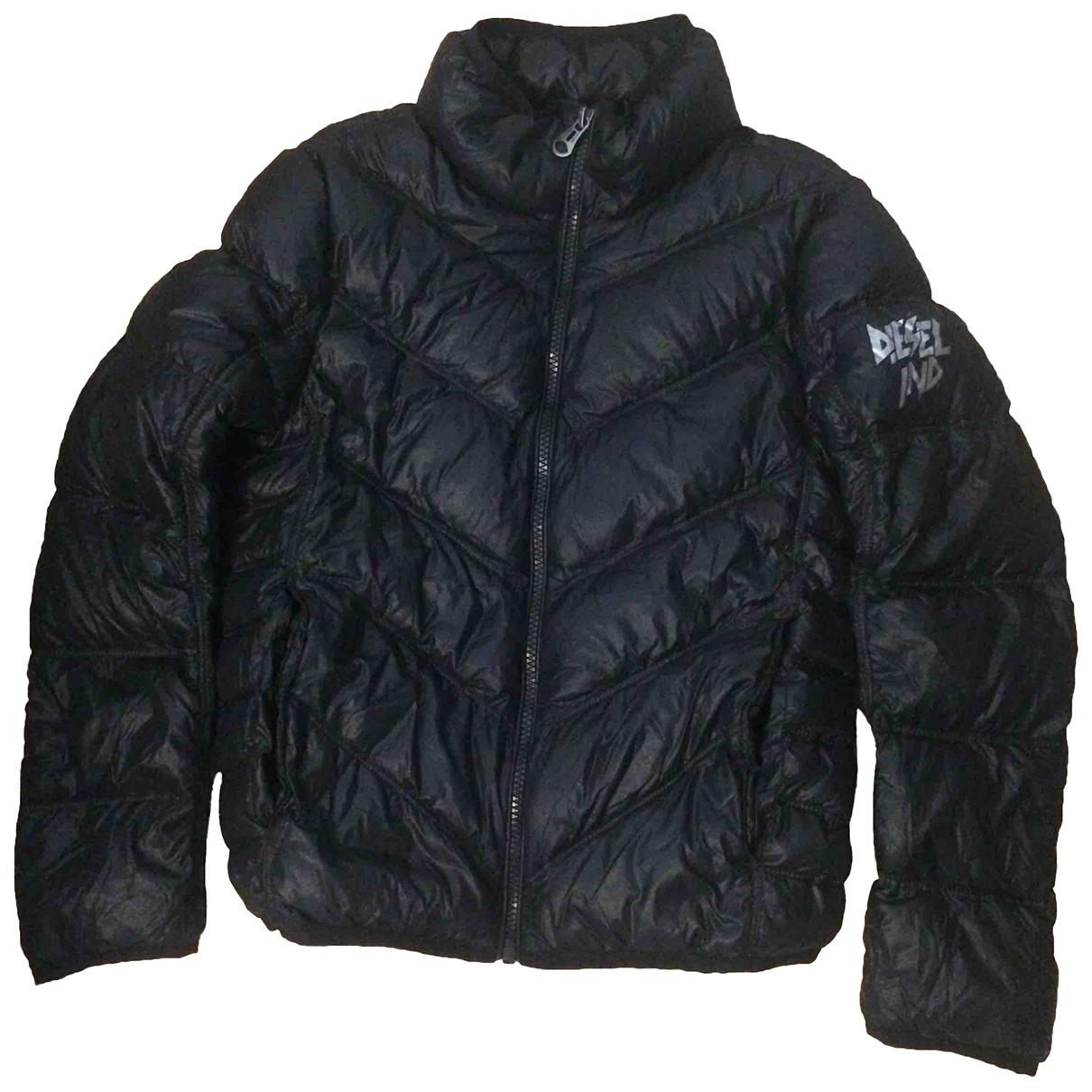 Diesel - Blousons.Manteaux   pour enfant - noir