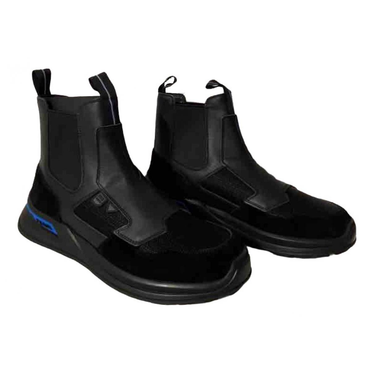 Prada \N Black Leather Boots for Men 40 EU