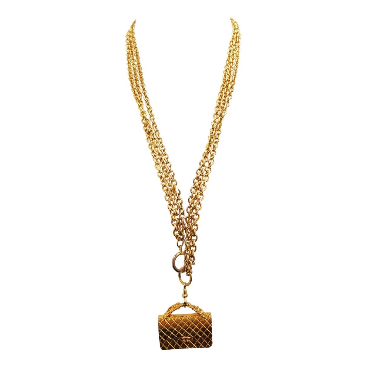 Chanel - Collier Matelasse pour femme en metal - dore