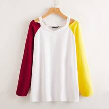 Color-block Cut Out Tee