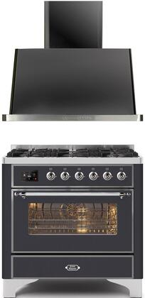 2 Piece Kitchen Appliances Package with UM096DNS3MGC 36