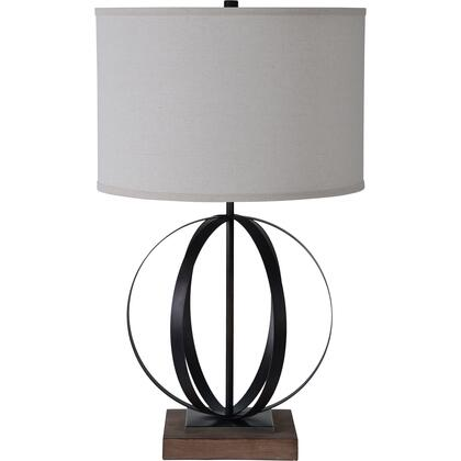 Sawyer Collection LPT878 Table Lamp with Iron Body Material in Black