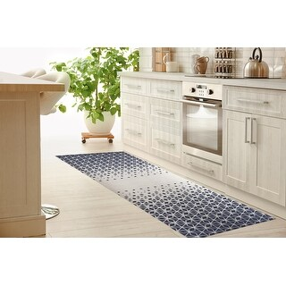 SCANDI STAR BLUE Kitchen Mat By Kavka Designs (2'6
