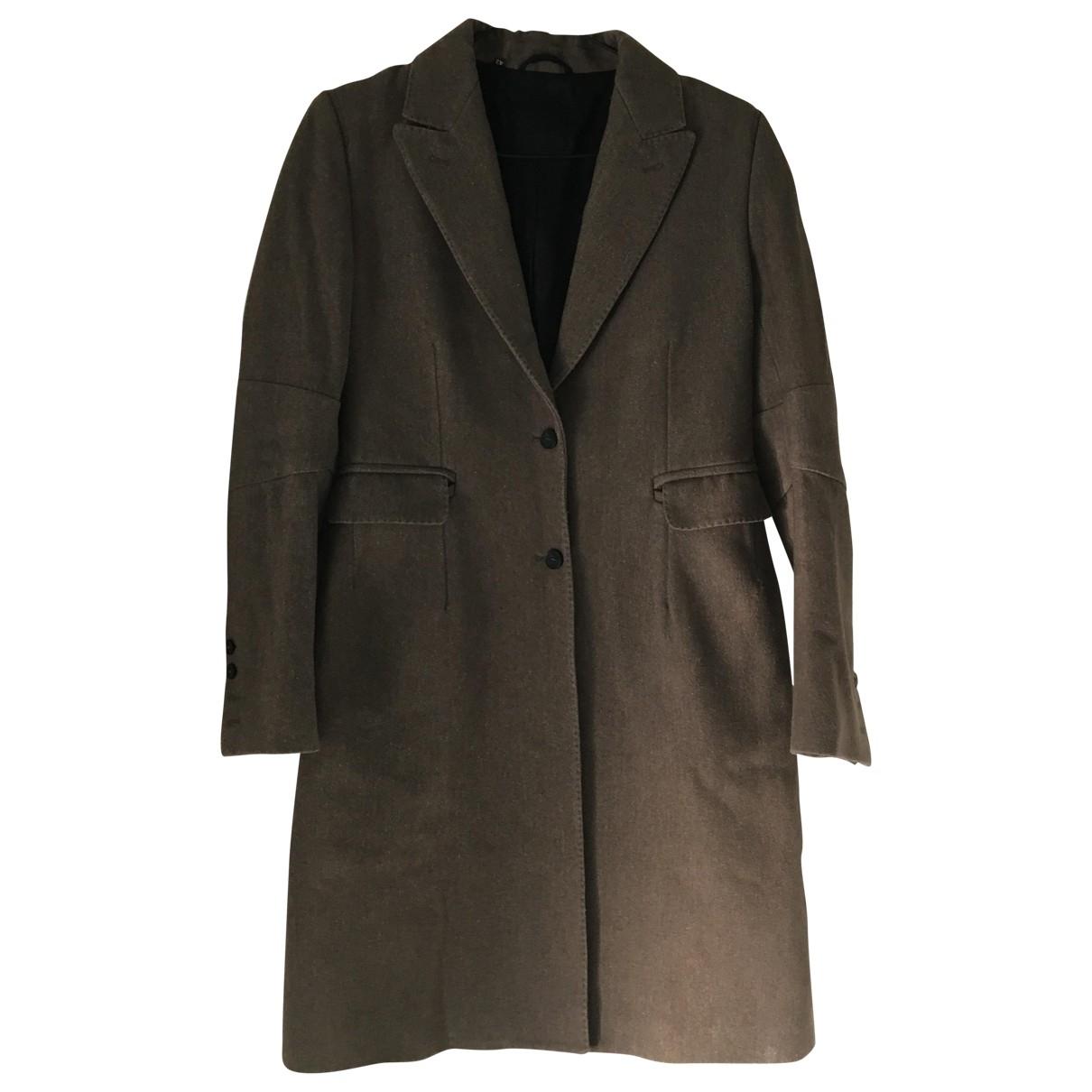 Costume National \N Khaki Wool coat for Women 42 FR