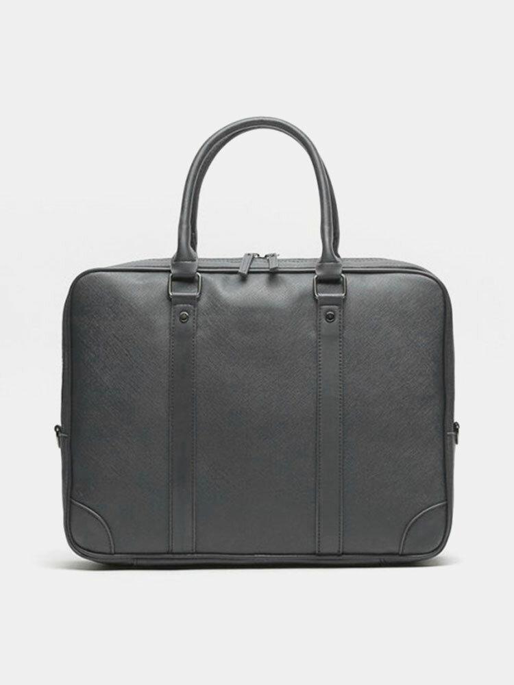 Men PU Leather 14 Inch Laptop Bag Briefcases Handbag Crossbody Bag