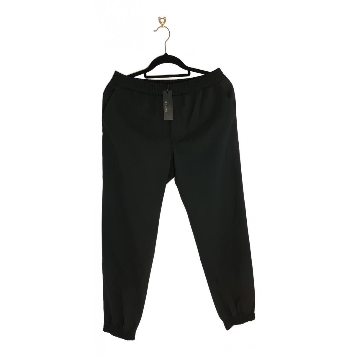 Versace \N Black Cotton Trousers for Men 30 UK - US
