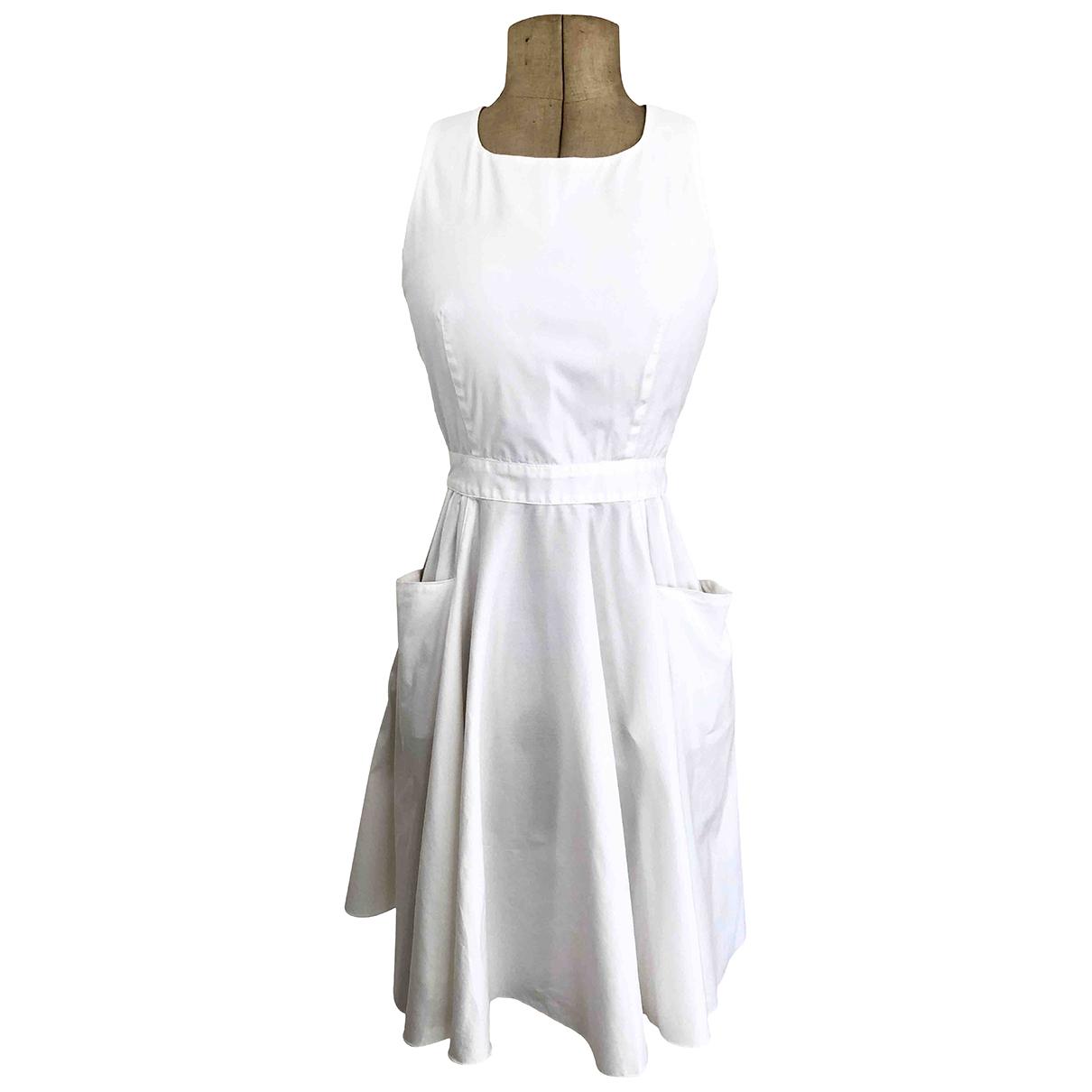 Prada \N White Cotton dress for Women 40 IT