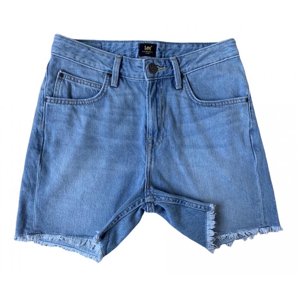 Lee \N Shorts in  Blau Baumwolle