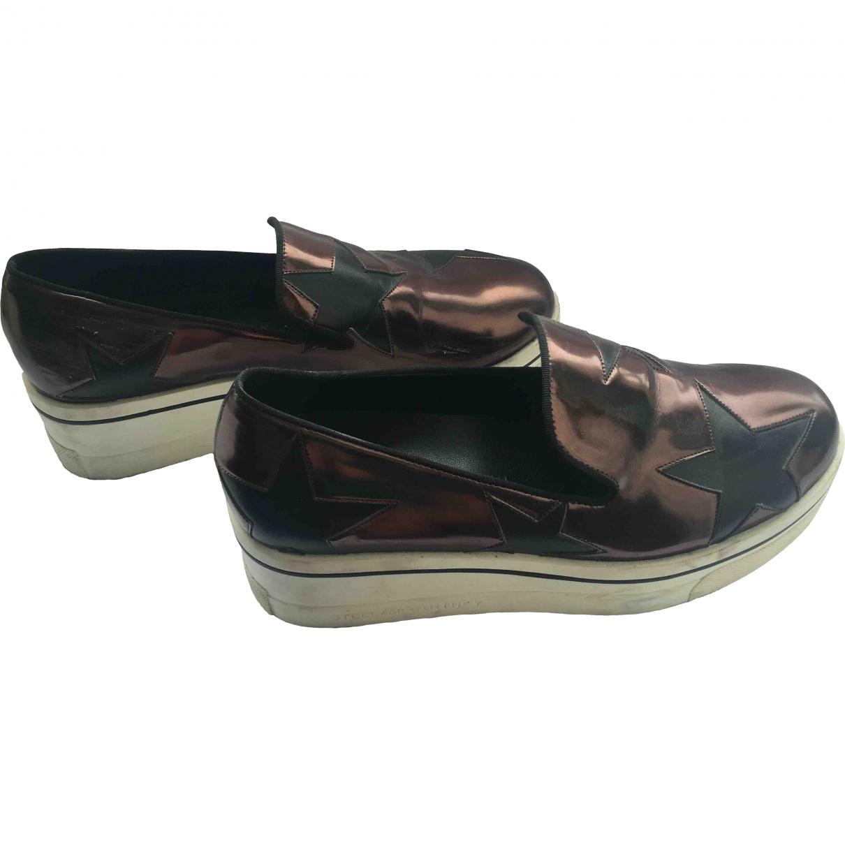 Stella Mccartney Binx Sneakers in  Grau Lackleder