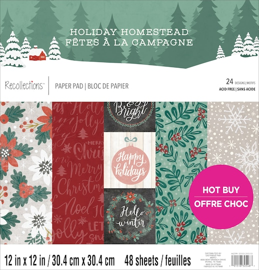 Holiday Homestead Christmas Paper Pad By Recollections™, 12
