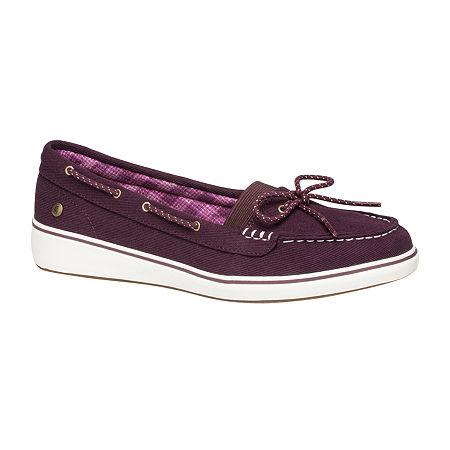 Grasshoppers Womens Augusta Slip-On Shoes, 9 Medium, Purple