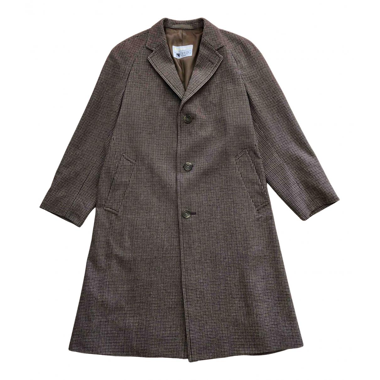 Aquascutum - Manteau   pour homme en laine - marron