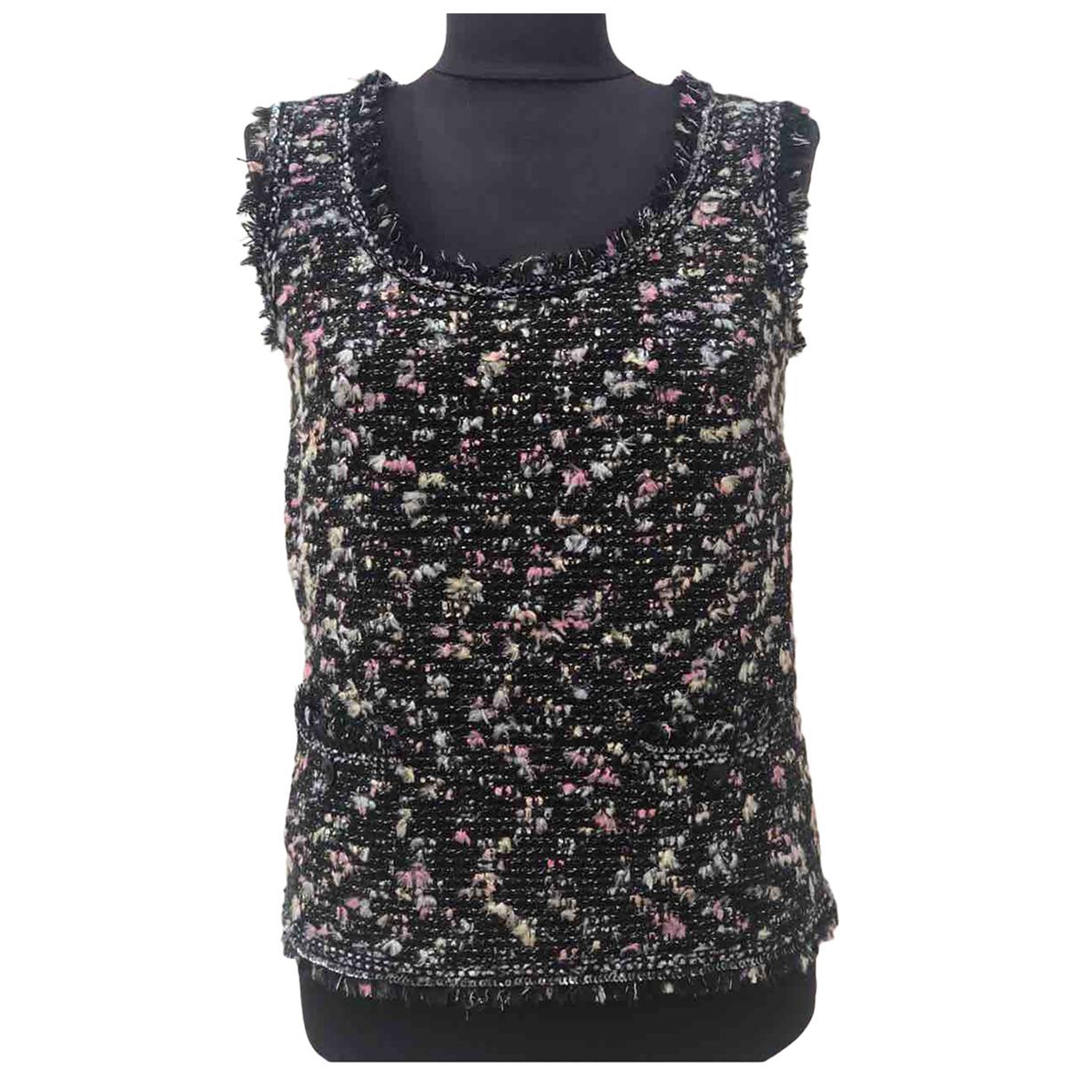 Chanel - Top   pour femme en tweed - multicolore