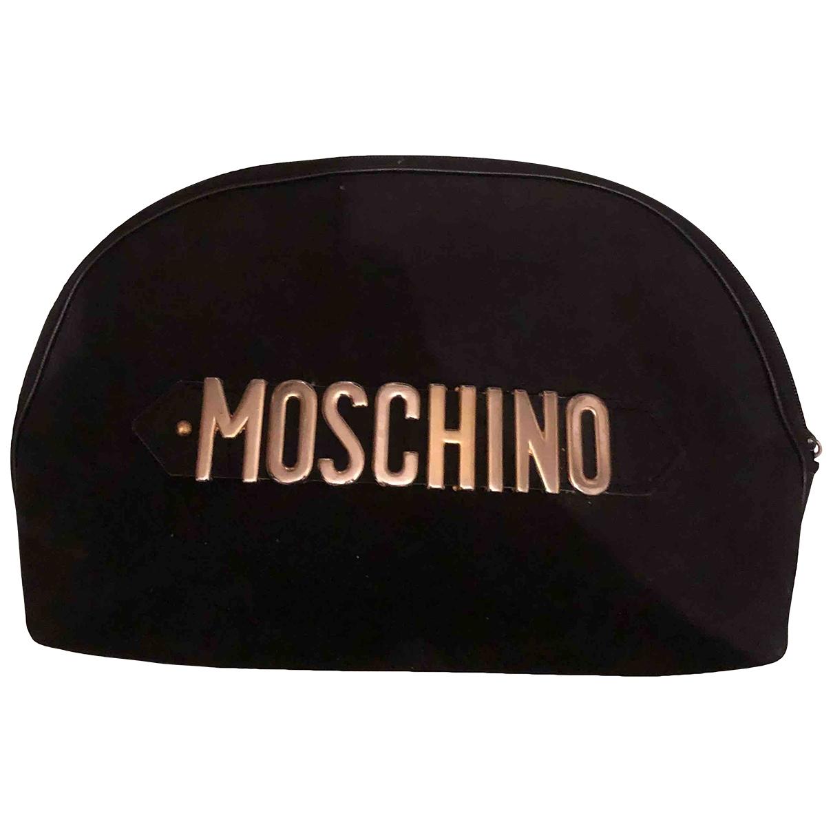 Moschino Cheap And Chic - Sac de voyage   pour femme en cuir - noir