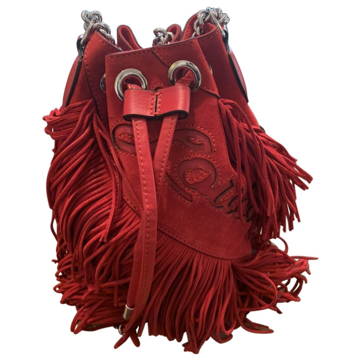 Christian Louboutin Marie Jane Red Suede handbag for Women N