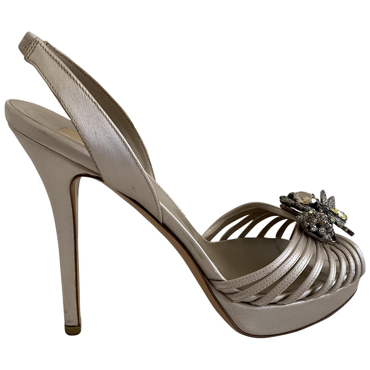 Valentino Garavani - Sandales   pour femme en cuir - argente