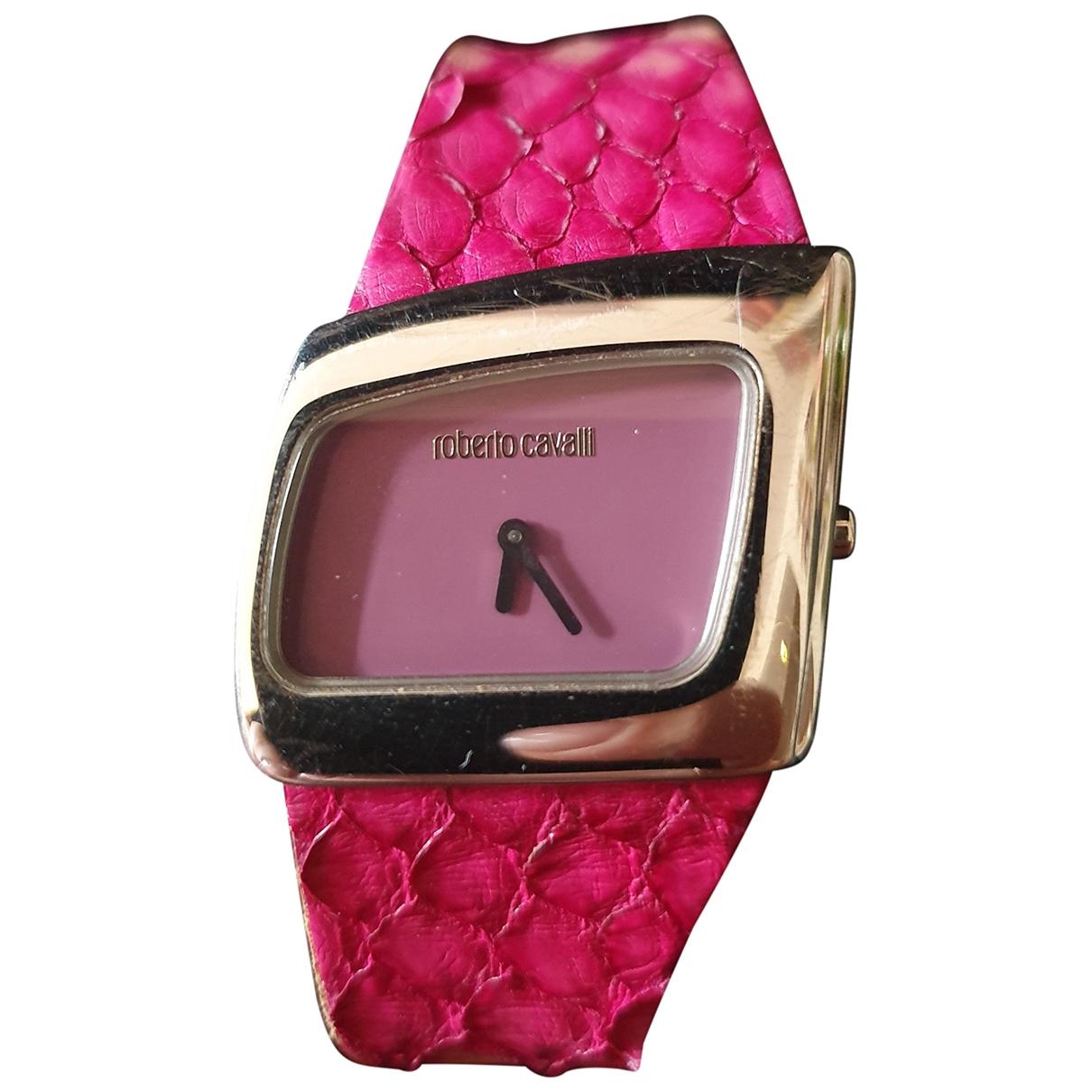 Roberto Cavalli \N Pink Steel watch for Women \N