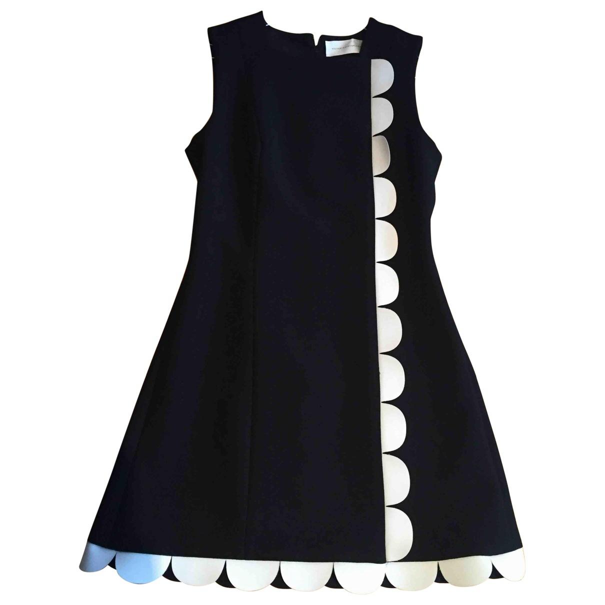 Victoria Beckham \N Kleid in  Schwarz Baumwolle