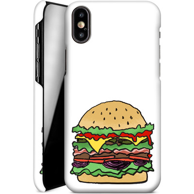 Apple iPhone X Smartphone Huelle - Burger  von caseable Designs