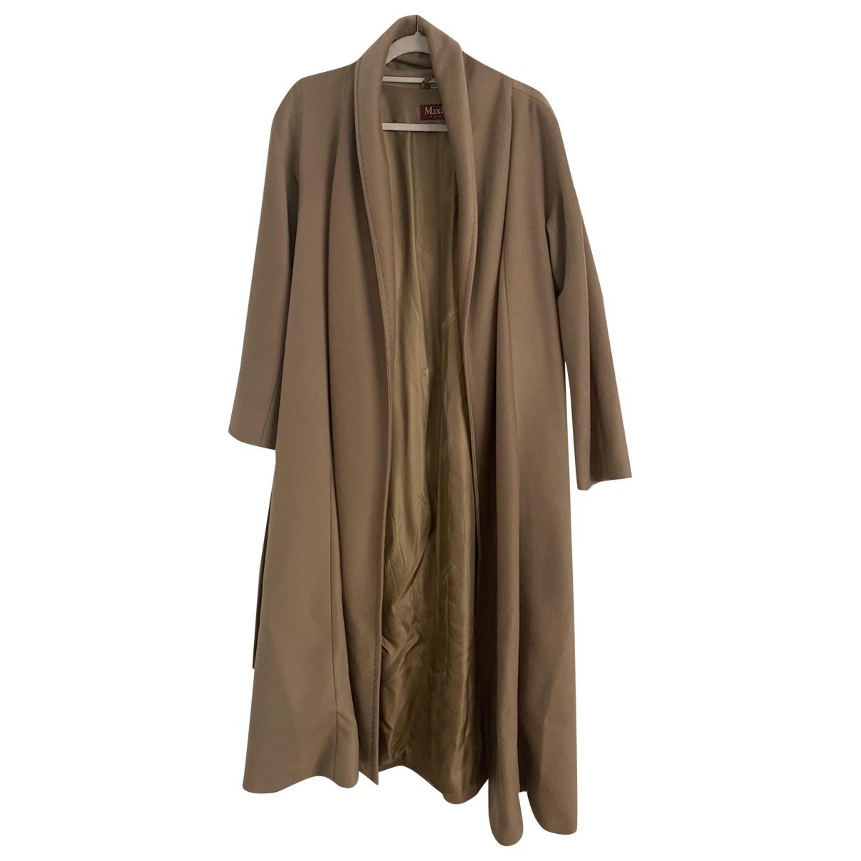 Max Mara Studio - Manteau   pour femme en laine - beige