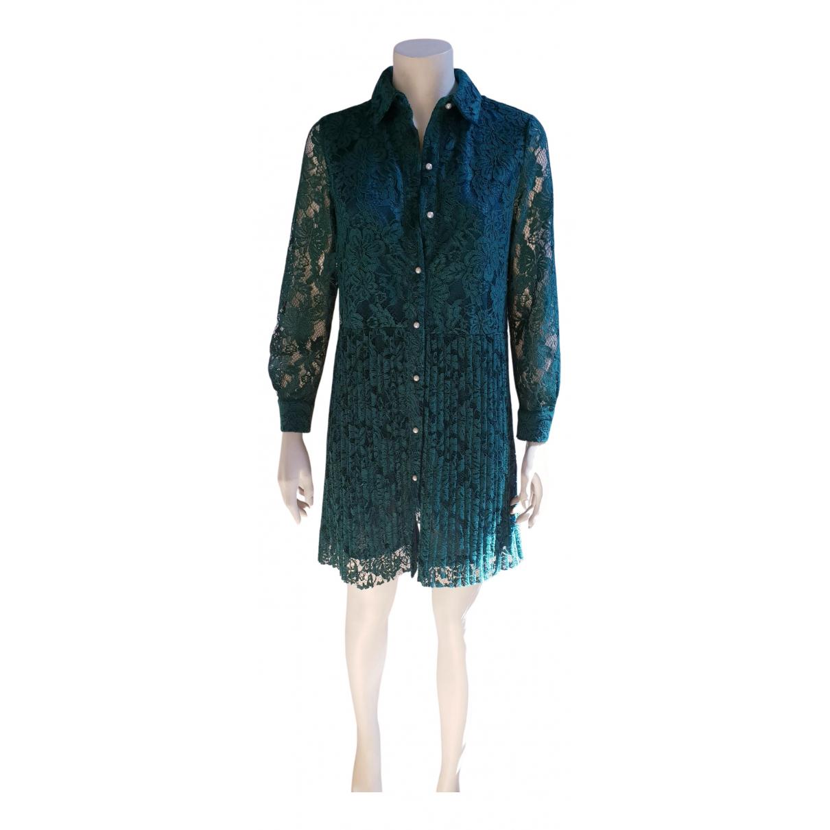 Zara - Robe   pour femme en dentelle - vert
