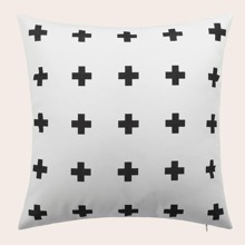 Symbol Print Cushion Cover Without Filler