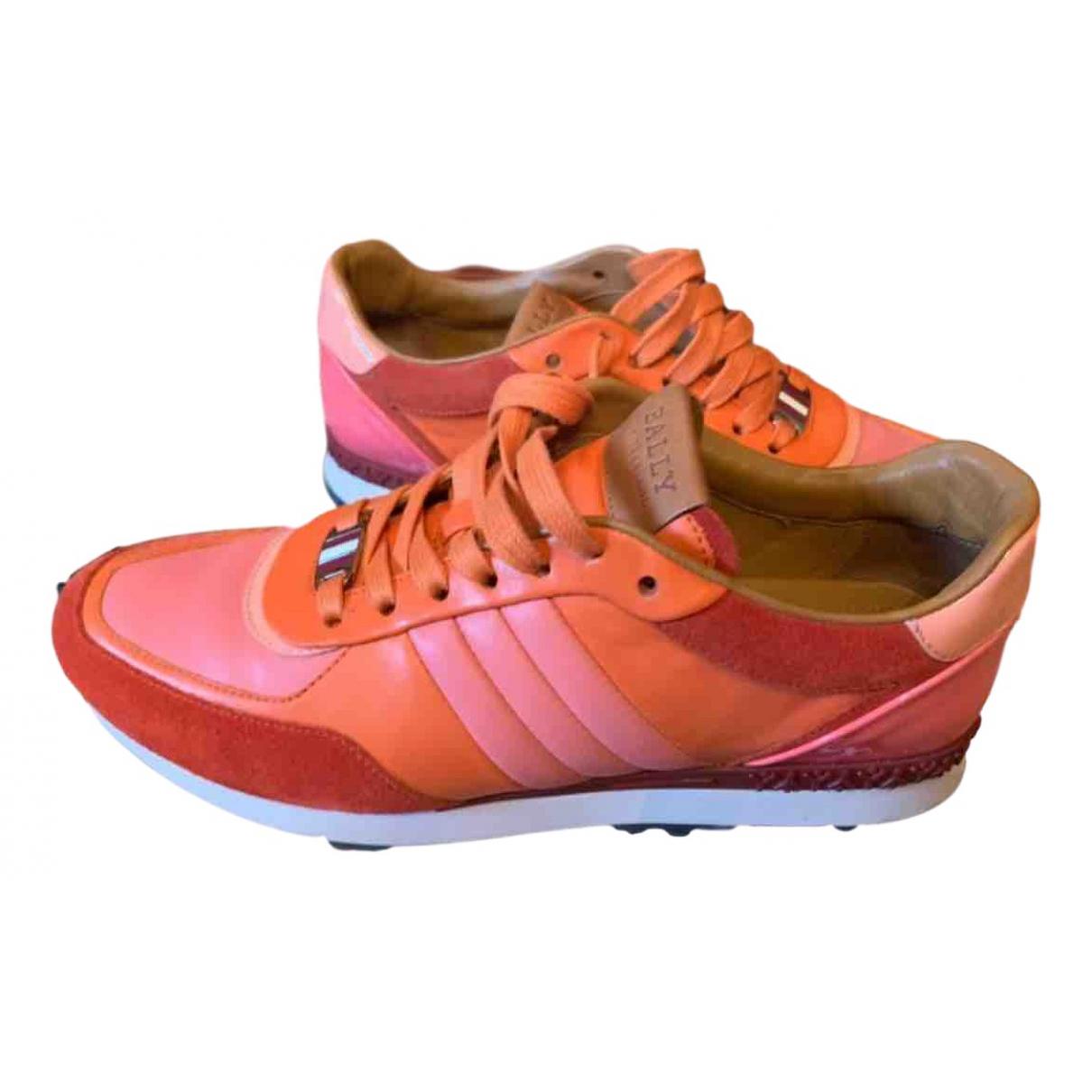 Bally \N Sneakers in  Orange Leder