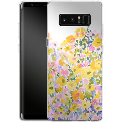 Samsung Galaxy Note 8 Silikon Handyhuelle - Flower Fields Sunshine von Amy Sia