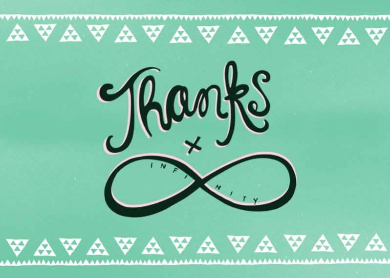 Thank You Cards 5x7 Cards, Premium Cardstock 120lb with Scalloped Corners, Card & Stationery -Infinity Thank You