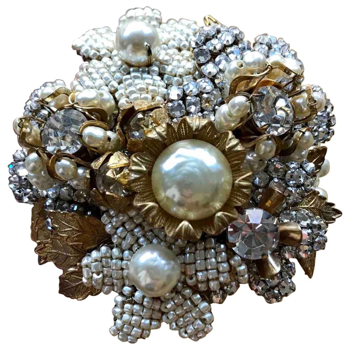 - Bracelet Manchette pour femme en cristal - dore