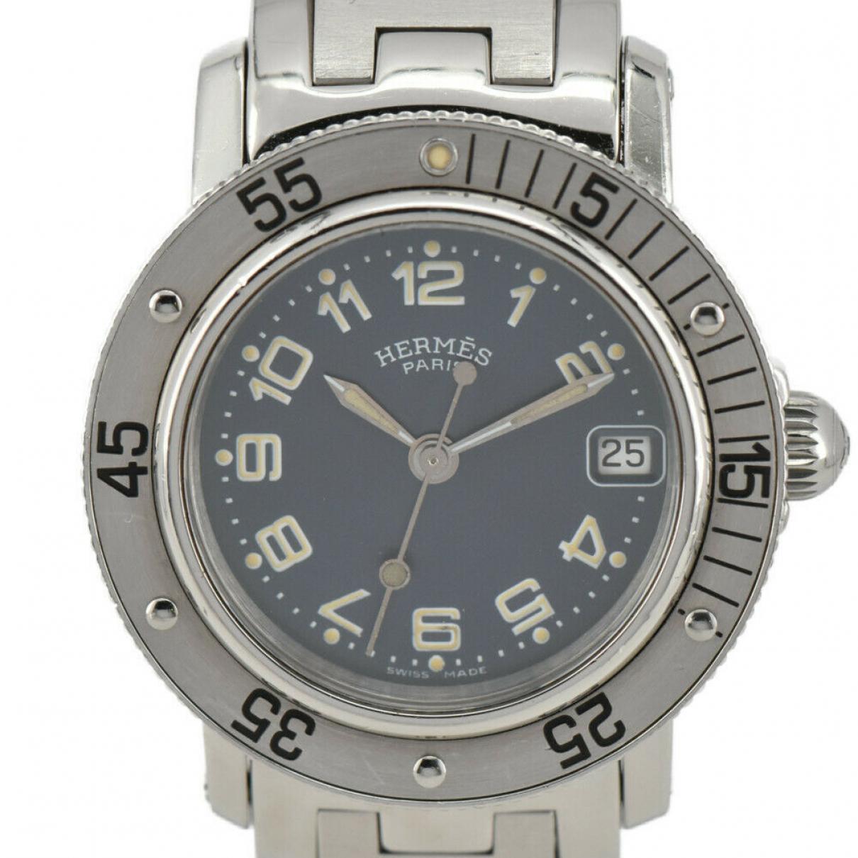 Hermes Clipper Uhr in  Blau Stahl