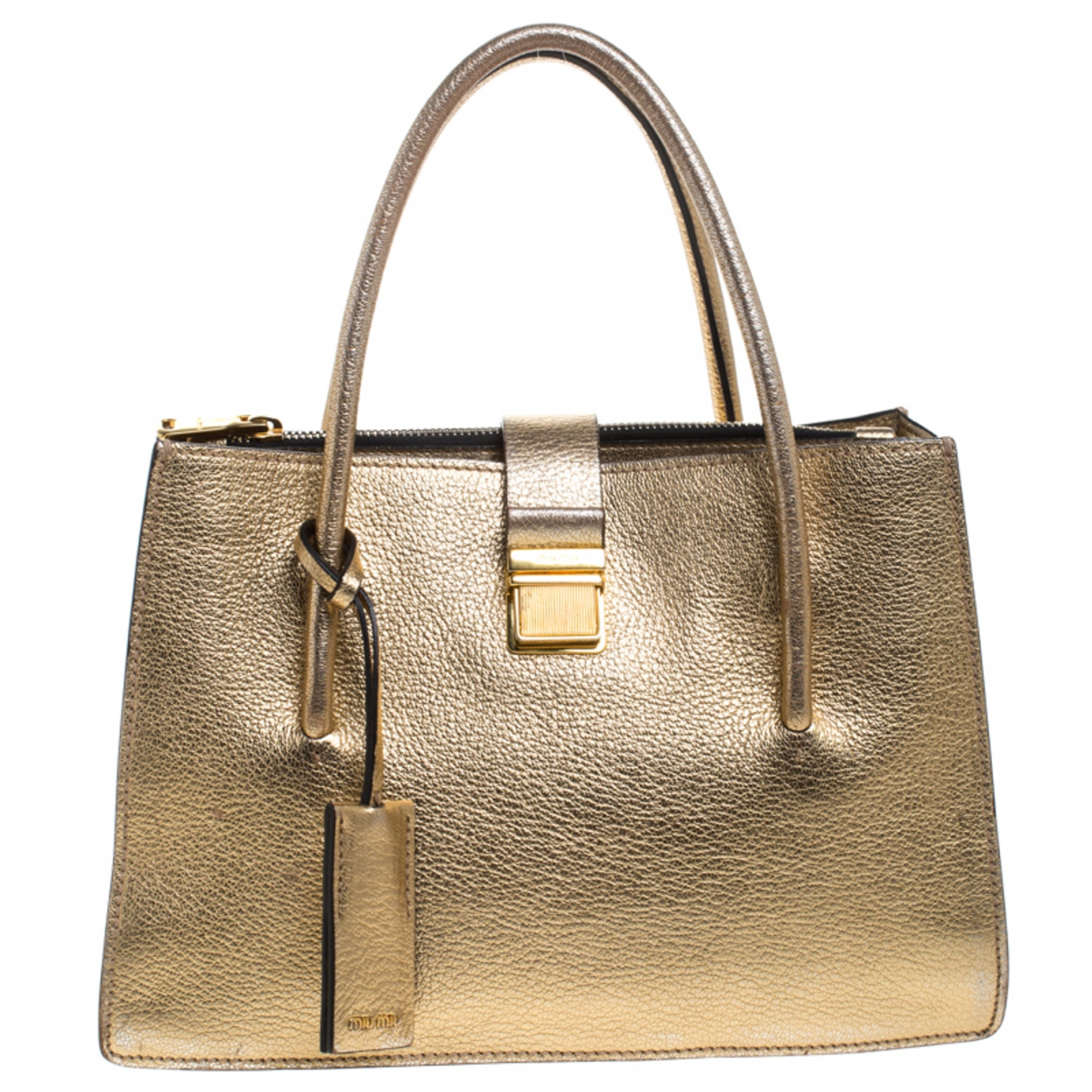 Miu Miu Madras Gold Leather handbag for Women \N