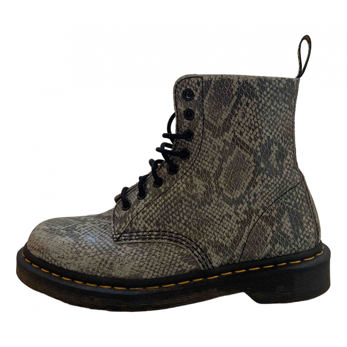 Dr. Martens 1460 Pascal (8 eye) Grey Leather Ankle boots for Women 40 EU