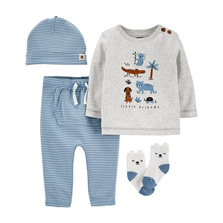 Carter's Baby Boys 4-pc. Pant Set, 6 Months , Blue
