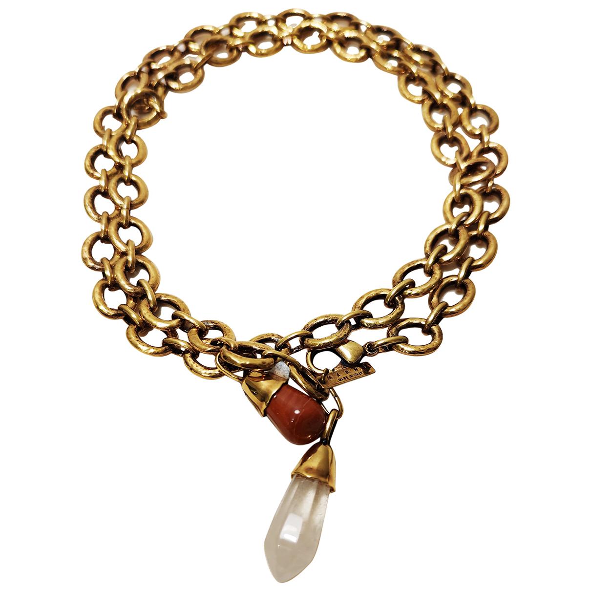 Marni \N Kette in  Gold Metall