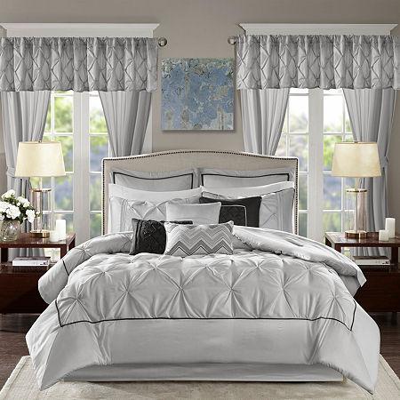 Madison Park Essentials Loretta 24-pc Comforter Set, One Size , Gray