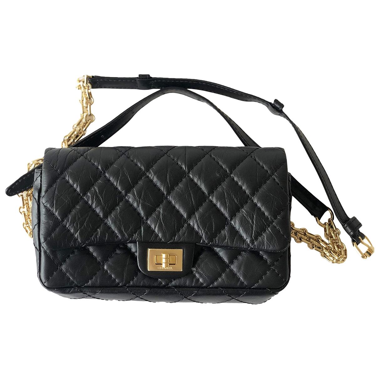 Chanel 2.55 Clutch in  Schwarz Leder