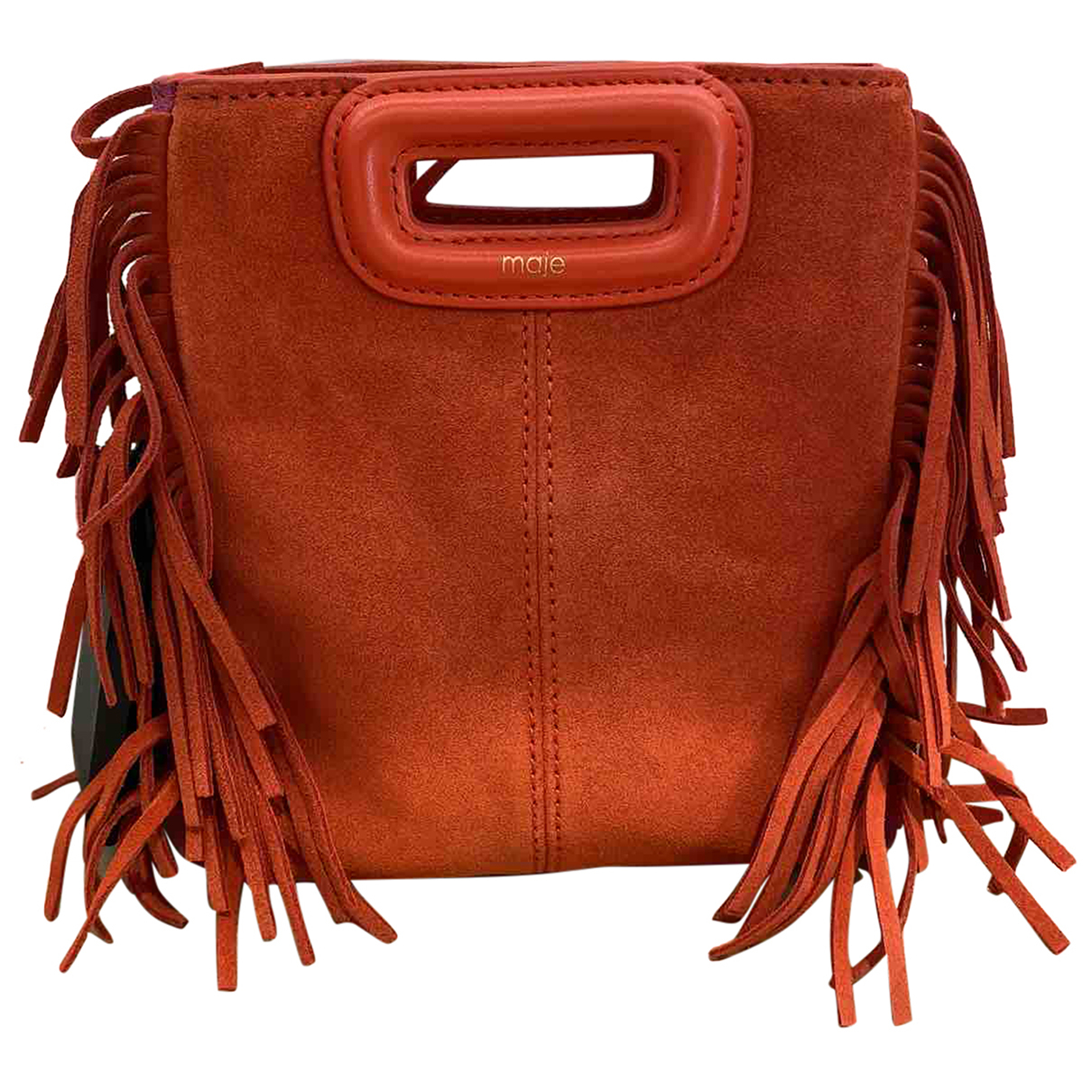 Maje Sac M Clutch in  Bunt Veloursleder