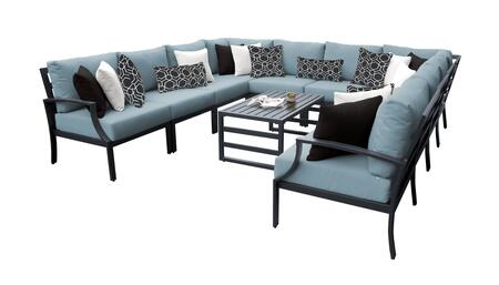 Lexington LEXINGTON-11a-SPA 11-Piece Aluminum Patio Set 11a with 1 Left Arm Chair  1 Right Arm Chair  2 Corner Chairs  6 Armless Chairs and 1 Coffee