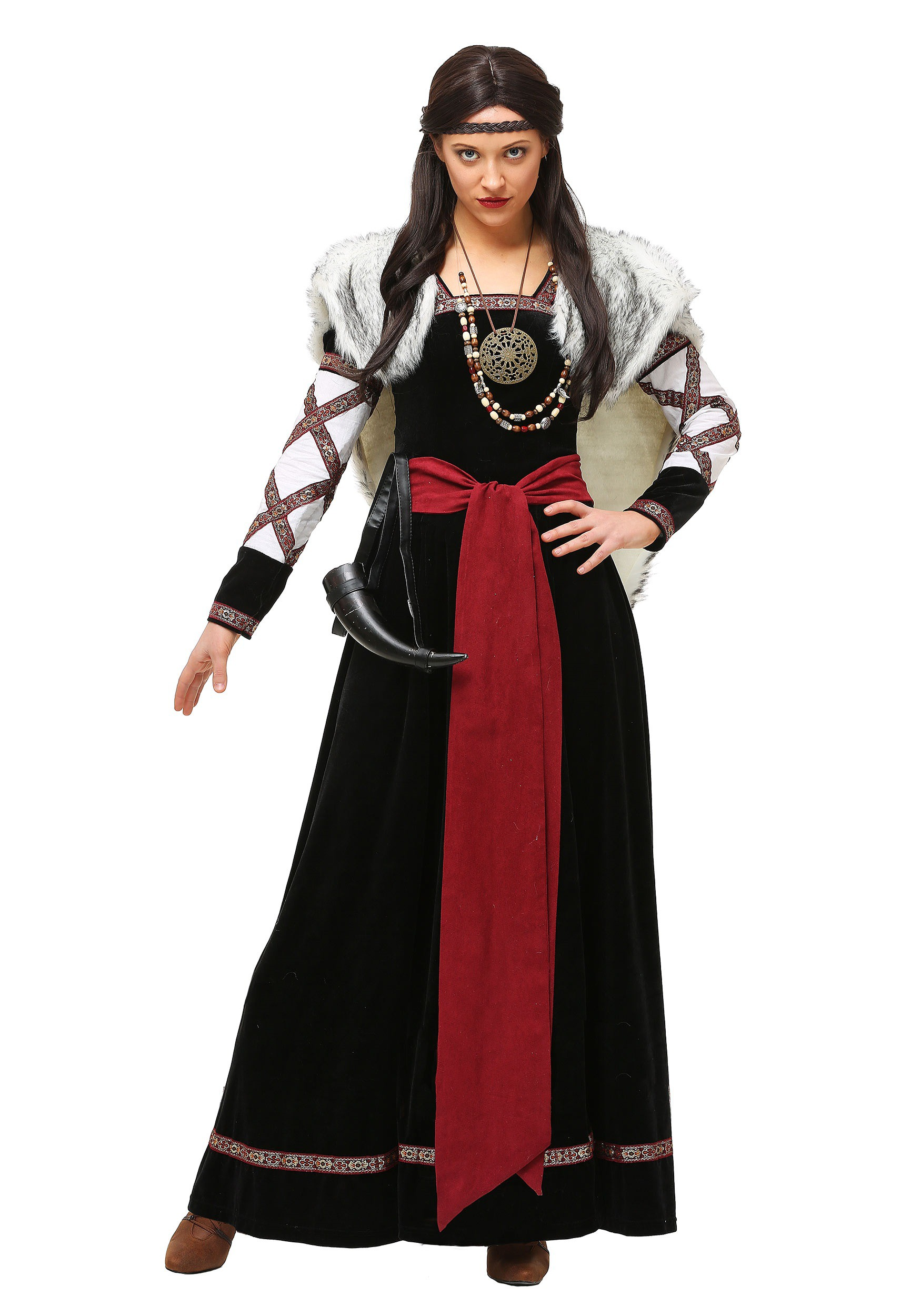 Plus Size Womens Dark Viking Dress Costume | Exclusive