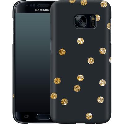 Samsung Galaxy S7 Smartphone Huelle - Gold Dots von Khristian Howell