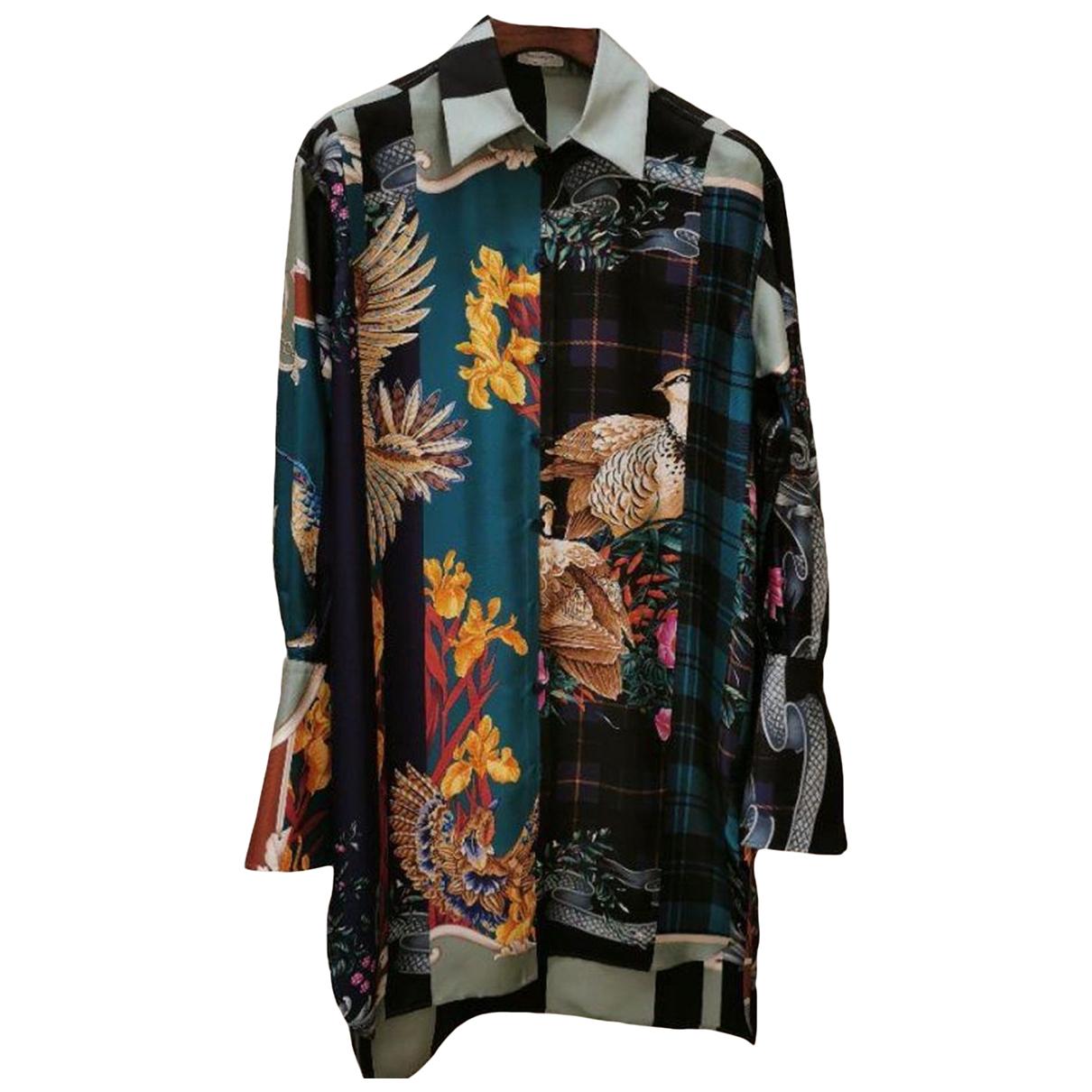Salvatore Ferragamo - Robe   pour femme en soie - marine