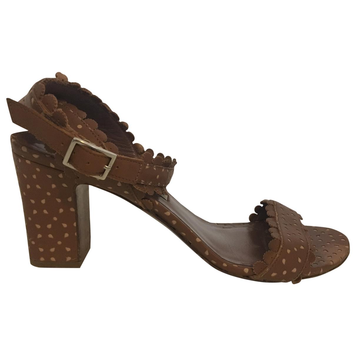 Tabitha Simmons \N Beige Leather Sandals for Women 38 EU