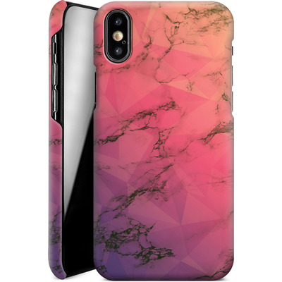 Apple iPhone XS Smartphone Huelle - Marbled Triangles von Joel Perroden