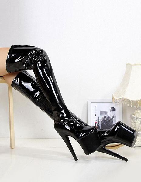 Milanoo Sexy Platform Over-The-Knee Boots